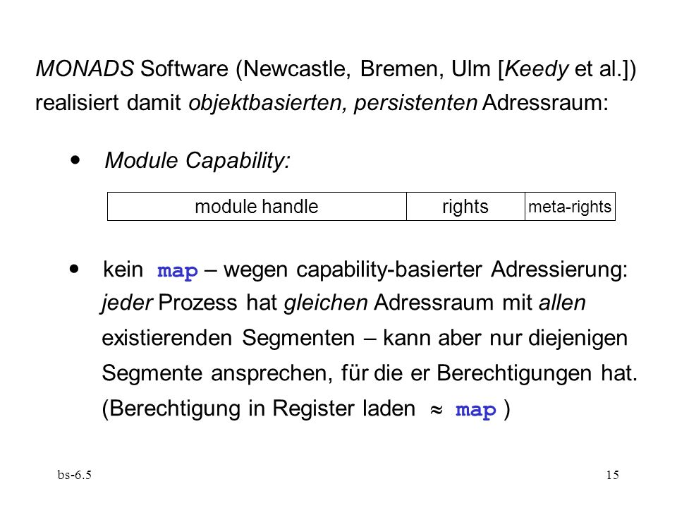 MONADS Software (Newcastle, Bremen, Ulm [Keedy et al.])